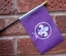 HAND WAVING FLAG (SMALL) - Scouts (purple)